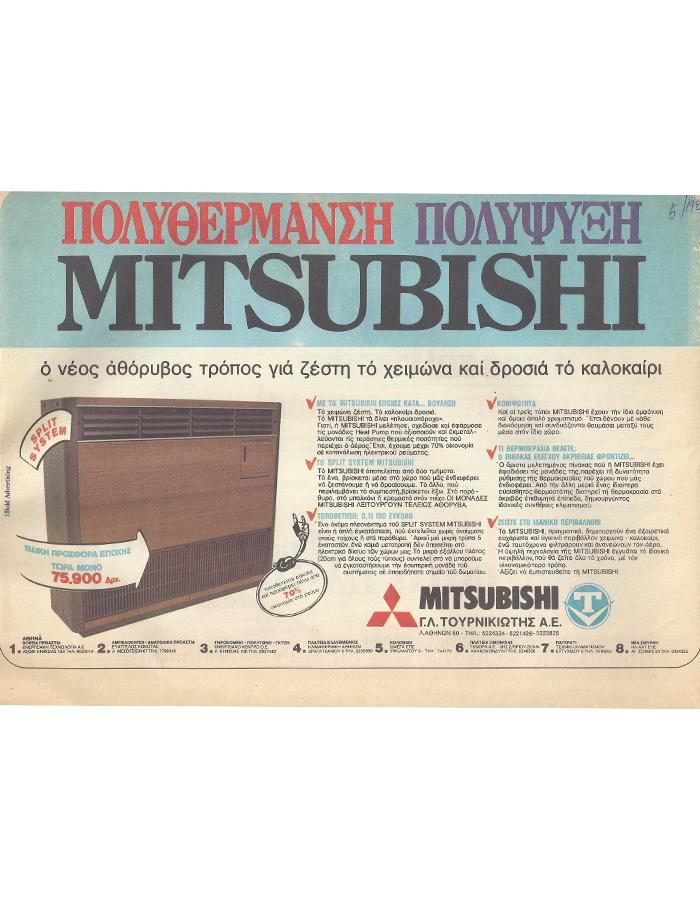 Mitsubishi Heavy για Ψύξη-Θέρμανση