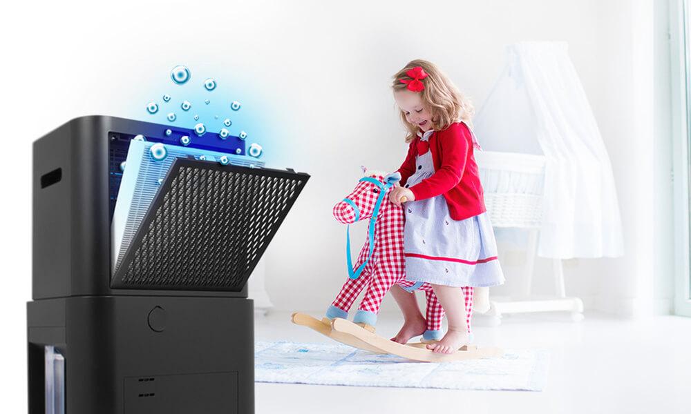 Αφυγραντήρας & Καθαριστής Αέρα Inventor ATMOSPHERE XL ΑΤ-IONUV-25L - Φίλτρο Αποστείρωσης HEPA 97.79%