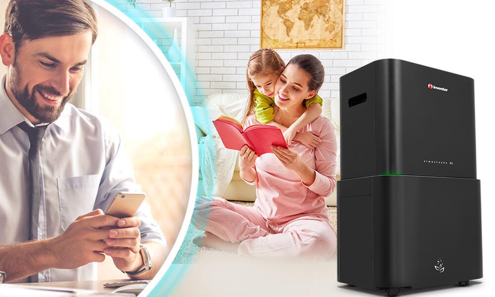 Αφυγραντήρας & Καθαριστής Αέρα Inventor ATMOSPHERE XL ΑΤ-IONUV-25L - WiFi
